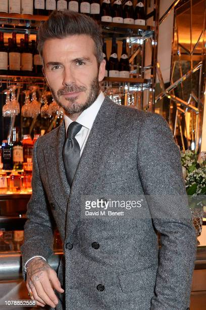 David Beckham attends the GQ dinner hosted by Dylan Jones and David Beckham to celebrate London Fashion Week Men's January 2019 at Brasserie Of Light...
