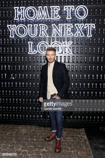 David Beckham attends the HOUSE 99 by David Beckham Global Launch Party at Electrowerkz on February 28 2018 in London England