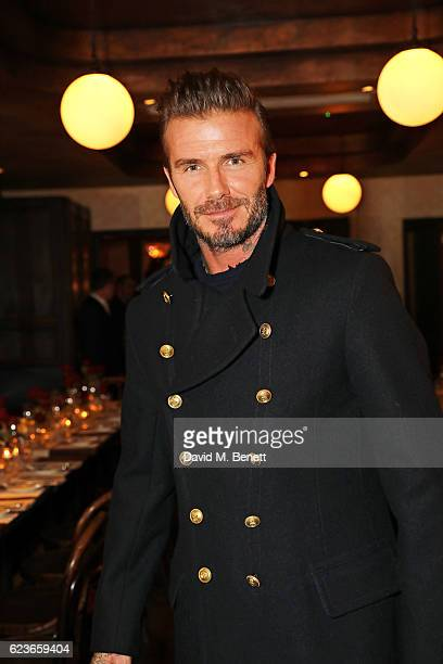 David Beckham attends the Kent Curwen dinner with Mr Porter at Little Social on November 16 2016 in London England