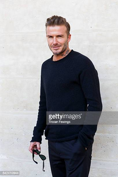 David Beckham attends the Louis Vuitton Menswear Spring/Summer 2017 show as part of Paris Fashion Week on June 23 2016 in Paris France