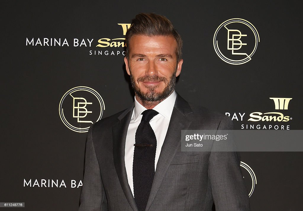 David Beckham Promotes Marina Bay Sands : News Photo