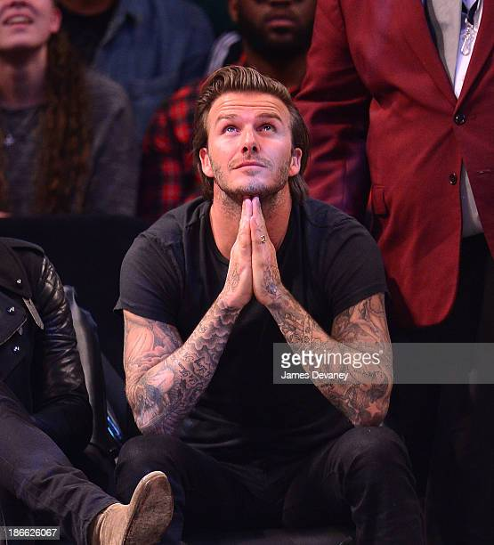 David Beckham attends the Miami Heat vs Brooklyn Nets game at Barclays Center on November 1 2013 in the Brooklyn borough of New York City