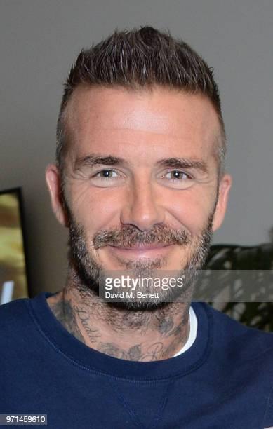 David Beckham attends the NEWGEN LFWM June 2018 Breakfast during London Fashion Week Men's June 2018 at the BFC Designer Showrooms on June 11 2018 in...
