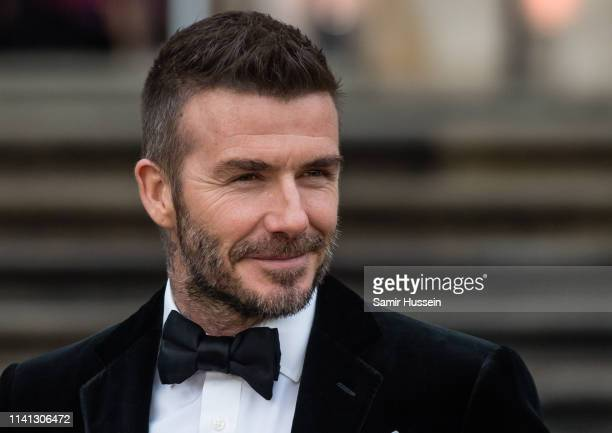 David Beckham attends the Our Planet global premiere at Natural History Museum on April 04 2019 in London England