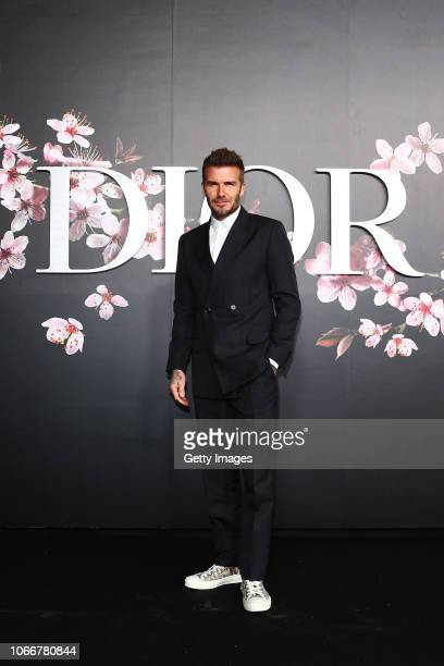 David Beckham attends the photocall at the Dior Pre Fall 2019 Men's Collection on November 30 2018 in Tokyo Japan
