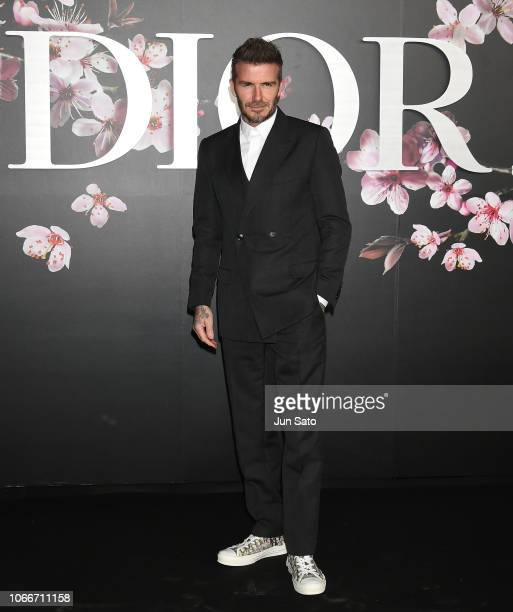 David Beckham attends the photocall for Dior PreFall 2019 Men's Collection at Telecom Center on November 30 2018 in Tokyo Japan