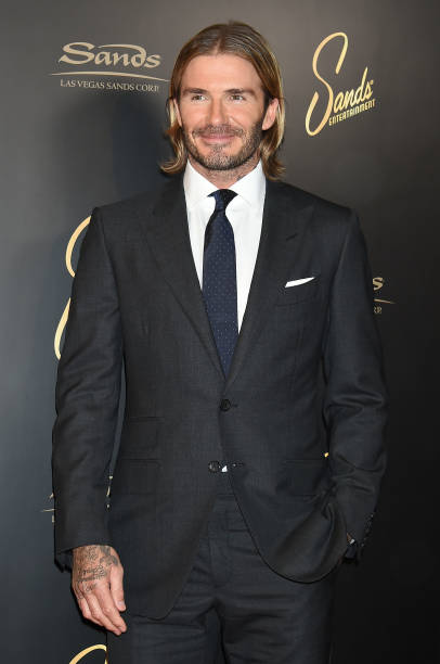david beckham promotes las vegas sands photos and images getty images. Black Bedroom Furniture Sets. Home Design Ideas