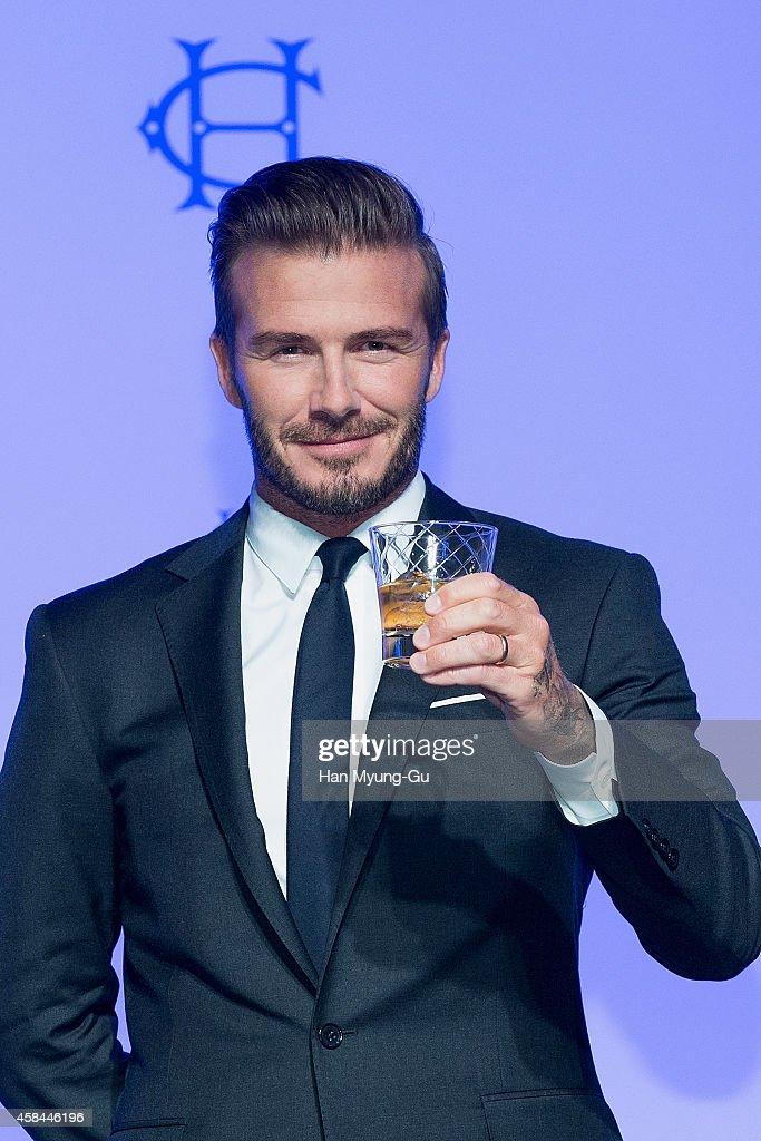 David Beckham attends the press conference for Diageo Korea 'Haig Club' at Grand Hyatt Hotel on November 5, 2014 in Seoul, South Korea.