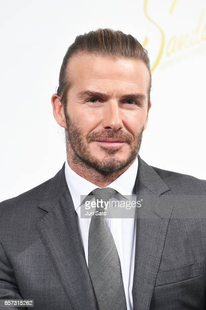 David Beckham attends the press conference for Las Vegas Sands at Palace Hotel on October 4 2017 in Tokyo Japan
