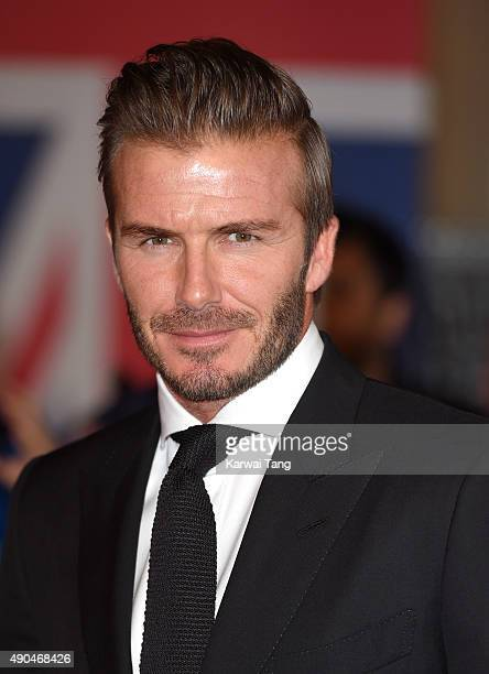 David Beckham attends the Pride of Britain awards at The Grosvenor House Hotel on September 28 2015 in London England