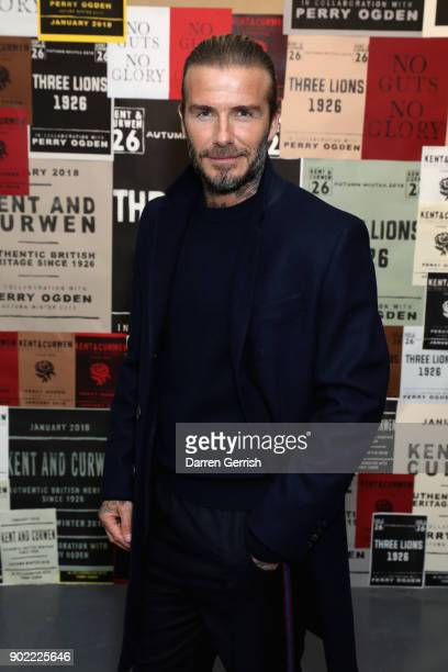 David Beckham attends the 'The Boxer, The Artist & The Musician' a collaborative exhibition with photographer and filmmaker Perry Ogden for Kent &...