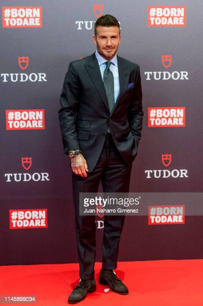 David Beckham attends the Tudor New Collection presentation at VP Plaza España Design Hotel on April 29, 2019 in Madrid, Spain.