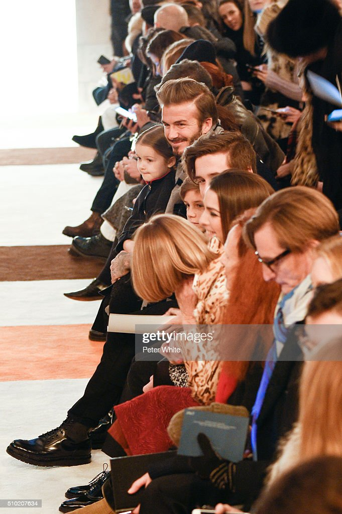 David Beckham attends the Victoria Beckham show Fall 2016 during New York Fashion Week at The Cunard Building on February 14, 2016 in New York City.