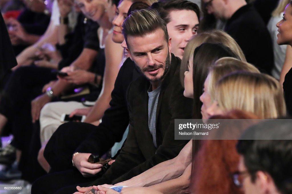 David Beckham attends the Victoria Beckham Spring/Summer 2017 fashion show during New York Fashion Week 2016 on September 11, 2016 in New York City.