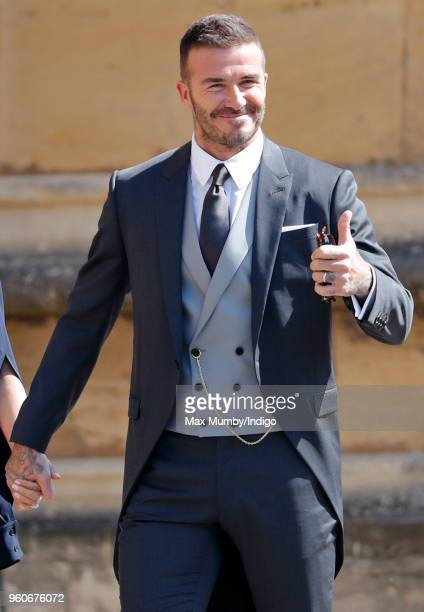 David Beckham attends the wedding of Prince Harry to Ms Meghan Markle at St George's Chapel Windsor Castle on May 19 2018 in Windsor England Prince...