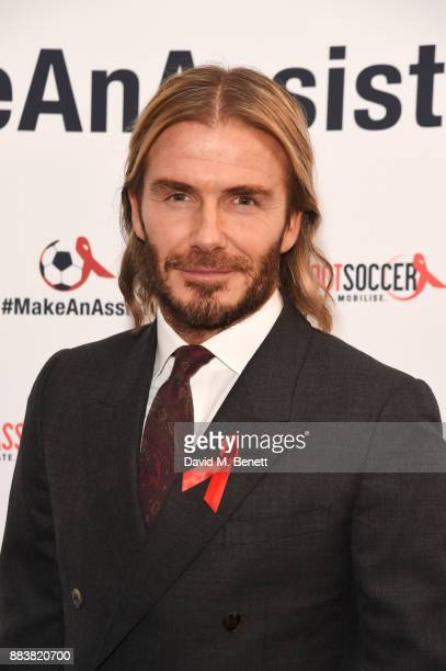 David Beckham attends the World Aids Day Charity Gala aimed at using football to educate and inspire vulnerable young people in developing countries...