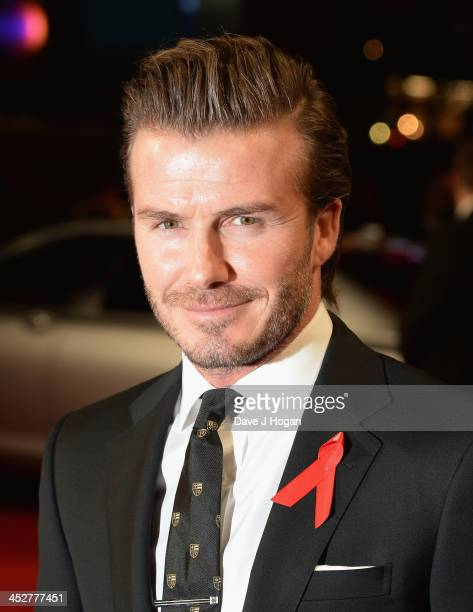 """David Beckham attends the World premiere of """"The Class of 92"""" at Odeon West End on December 1, 2013 in London, England."""