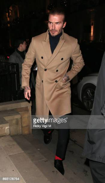 David Beckham attends Victoria Beckham Christmas Open House hosted by Victoria Beckham David Beckham and British Vogue at Victoria Beckham Dover...