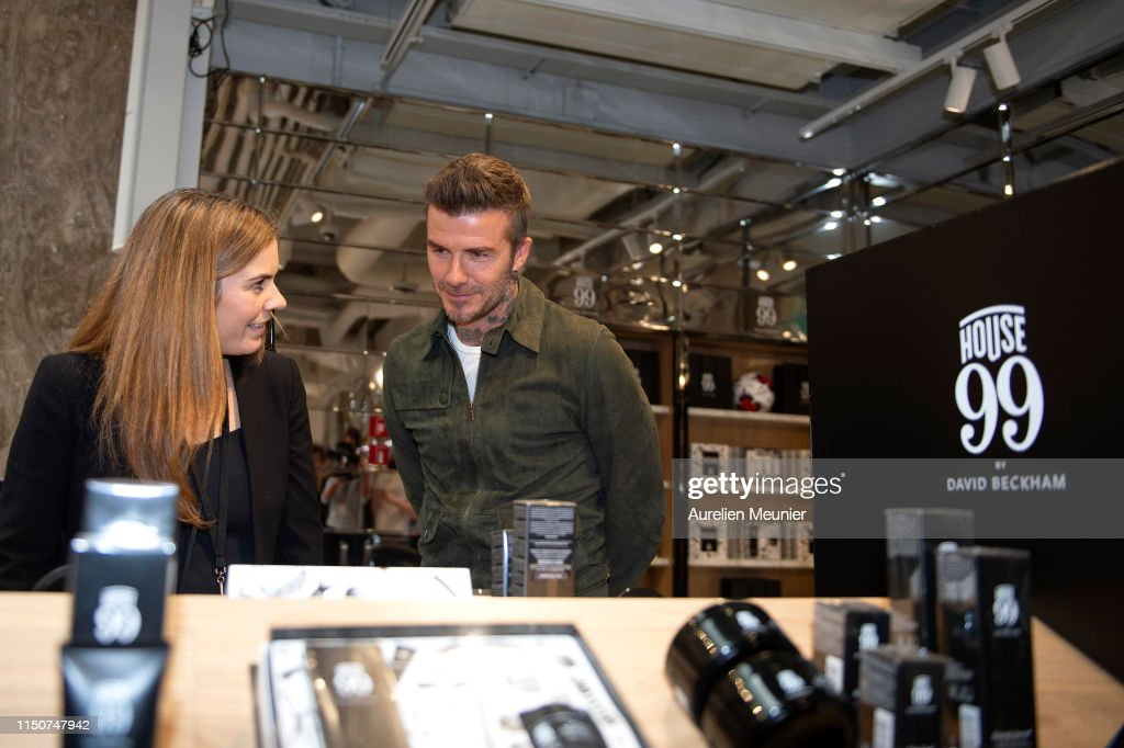 FRA: David Beckham Celebrates House 99 At Galeries Lafayette Champs Elysees In Paris