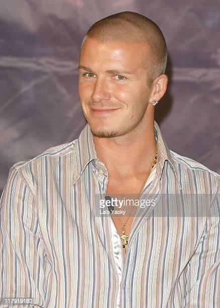 David Beckham during David Beckham Launches New DVD Really Bend it Like Beckham Press Conference and Photo Call at VillaMagna Hotel in Madrid Spain