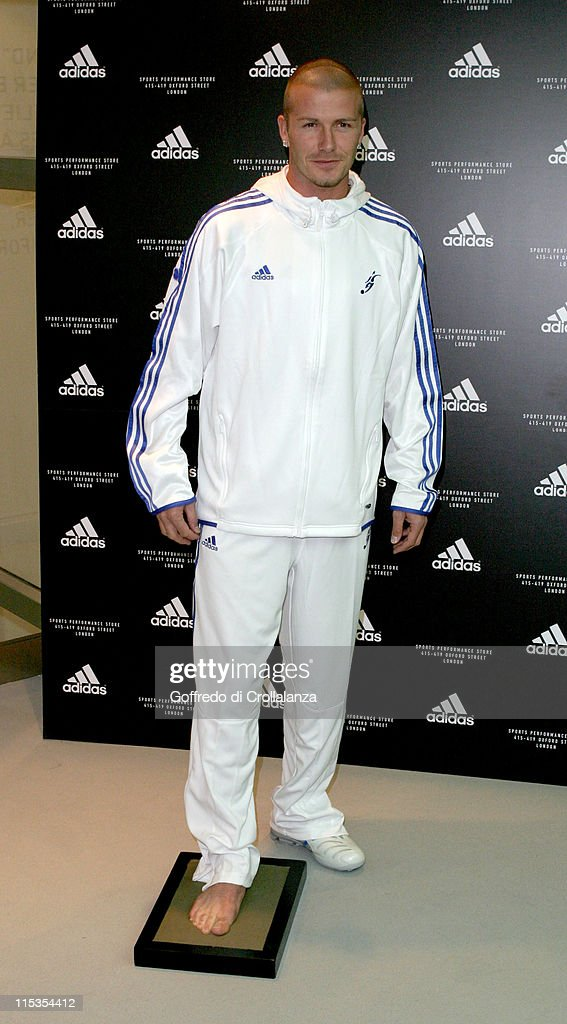 David Beckham during Launch of First Adidas Sports Performance Store in London at Adidas Store in London, Great Britain.