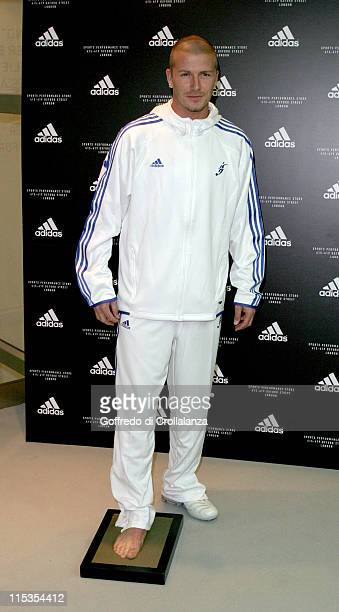 David Beckham during Launch of First Adidas Sports Performance Store in London at Adidas Store in London Great Britain