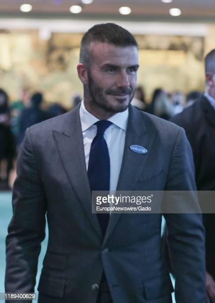 David Beckham, Goodwill Ambassador for UNICEF, at United Nations in New York City, New York, November 20, 2019.