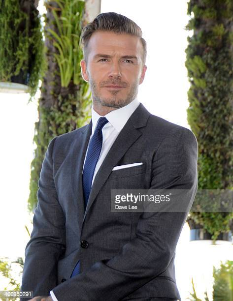 David Beckham is seen arriving at a press conference to announce plans to launch a new Major League Soccer franchise on February 5 2014 in Miami...