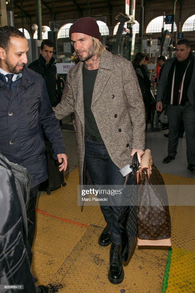 Victoria Beckham and David Beckham Sighting In Paris  -  January 17