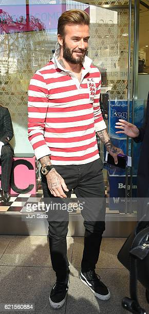 David Beckham is seen in Ginza shopping area on November 7 2016 in Tokyo Japan