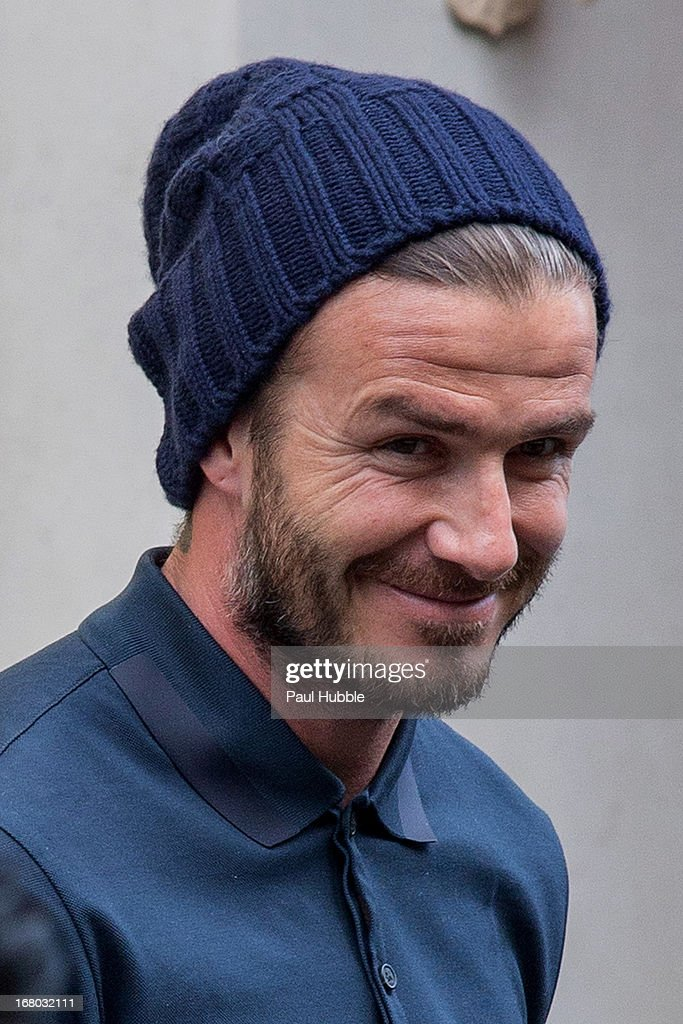 David Beckham is seen leaving the 'BALENCIAGA' store on May 4, 2013 in Paris, France.