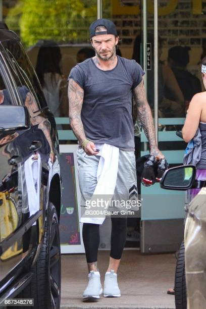 David Beckham is seen on April 11 2017 in Los Angeles California