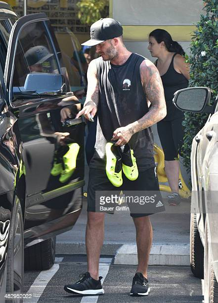 David Beckham is seen on August 04 2015 in Los Angeles California