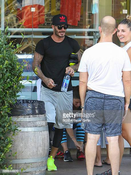 David Beckham is seen on August 11 2016 in Los Angeles California