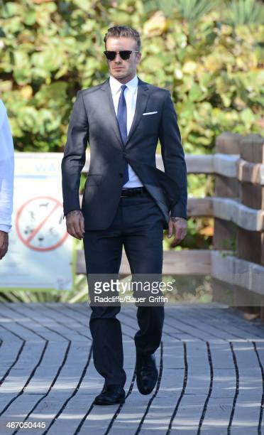 David Beckham is seen on February 05 2014 in Miami Florida