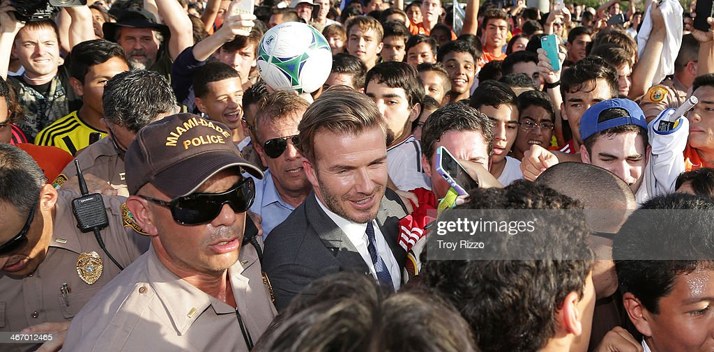 Miami celebrity sightings february 5 2014 photos and images david beckham is sighted at kendall soccer park during a meet and greet with youth soccer m4hsunfo