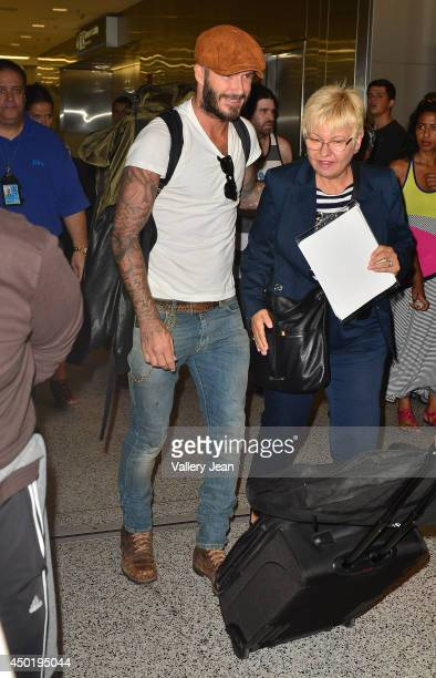 David Beckham is sighted at Miami International Airport on June 6 2014 in Miami Florida