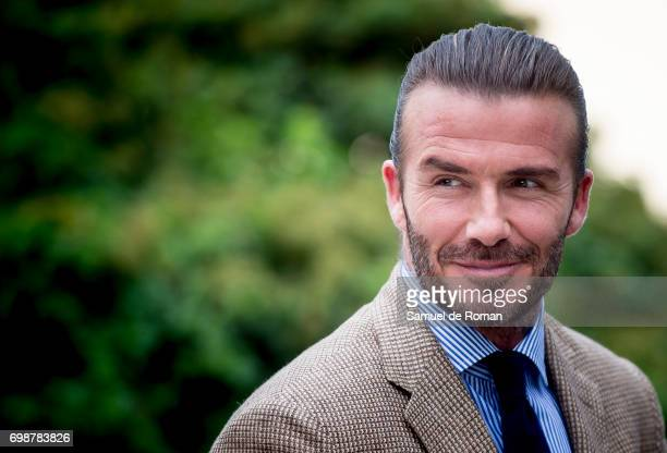 David Beckham is the Biotherm Homme new ambassador on June 20 2017 in Madrid Spain