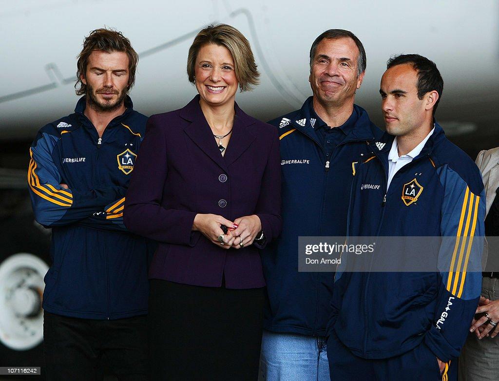 LA Galaxy Arrive In Sydney