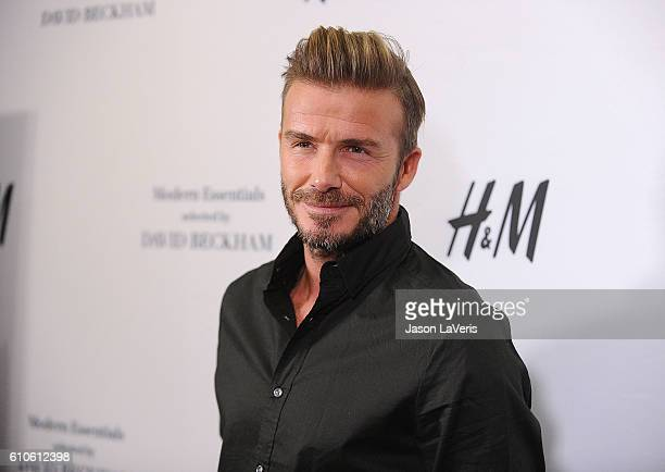 David Beckham launches the new H&M Modern Essentials campaign at H&M on September 26, 2016 in Los Angeles, California.