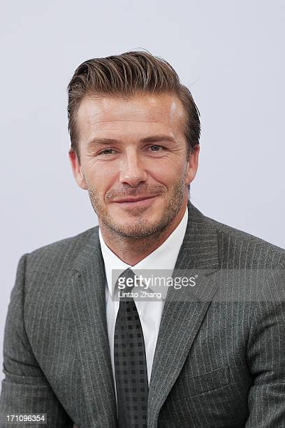 David Beckham looks on during he visit Hangzhou Greentown club on June 22, 2013 in Hangzhou, China.