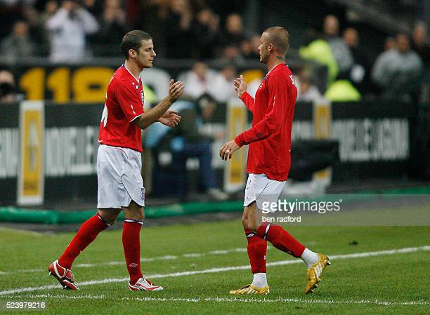 David Beckham of England is replaced by David Bentley during the International Friendly match between France and England at the Stade de France,...