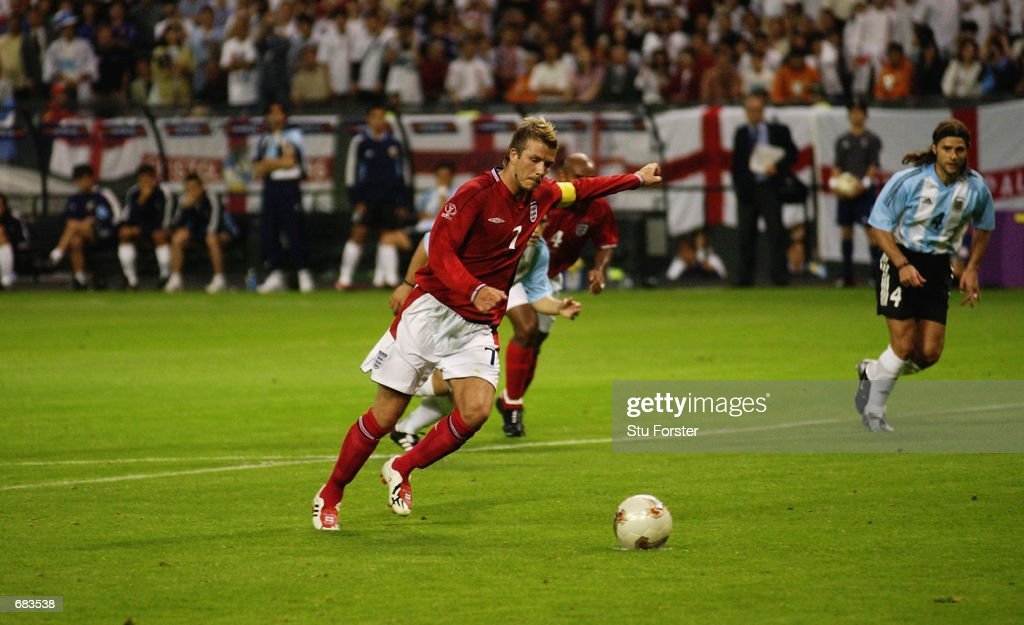 David Beckham of England : ニュース写真