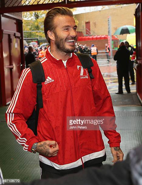 David Beckham of Great Britain and Ireland arrives ahead of the David Beckham Match for Children in aid of UNICEF between Great Britain and Ireland...