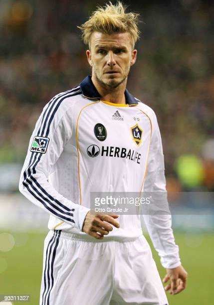David Beckham of Los Angeles Galaxy stands on the field during the MLS Cup final against Real Salt Lake at Qwest Field on November 22 2009 in Seattle...