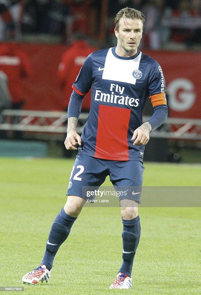 24818274d David Beckham of Paris Saint-Germain during the French League 1 ...