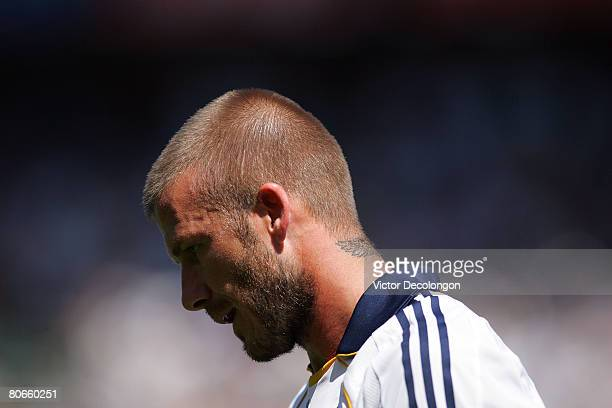 David Beckham of the Los Angeles Galaxy fails to run down the ball in the second half against Toronto FC during their MLS game at the Home Depot...