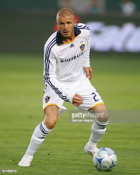 David Beckham of the Los Angeles Galaxy in action during the MLS match between the Colorado Rapids and Los Angeles Galaxy at Home Depot Center on...
