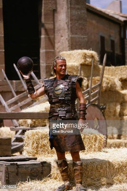 David Beckham on set during the making of the Pepsi football commercial 'Pepsi Foot Battle' held on July 4, 2003 in Madrid, Spain.