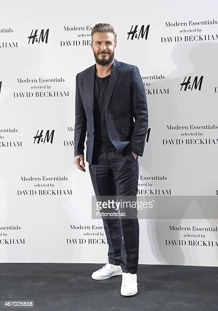 David Beckham presents the Modern Essentials by H&M collection at H&M Gran Via store on March 20, 2015 in Madrid, Spain.